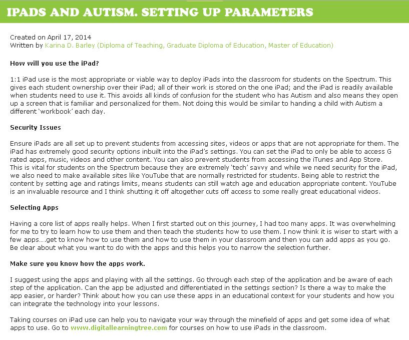 Setting up the parameters blog