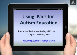 Using iPads for Autism ed - image