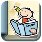 kid in a story ipad app for autism education