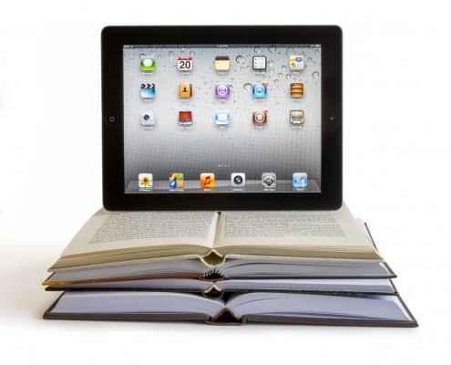 Ipad 3 on books