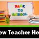 New teacher Help